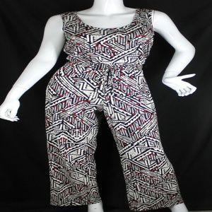 Calvin Klein Geometric Print Jump Suit Size 12